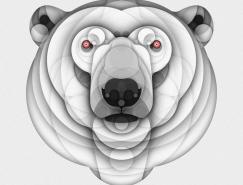 Bruno Silva澳门金沙网站几何动物插画澳门金沙网址