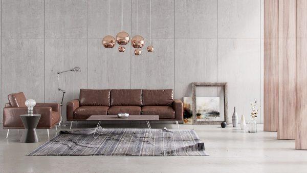 搭配棕色沙发打造高雅客厅设计 设计之家