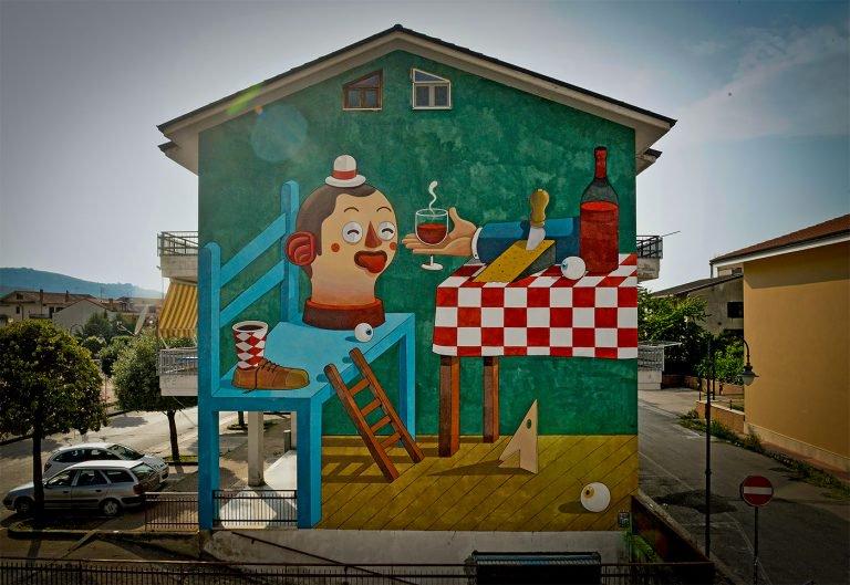 Diego Della Posta街头涂鸦艺术作品