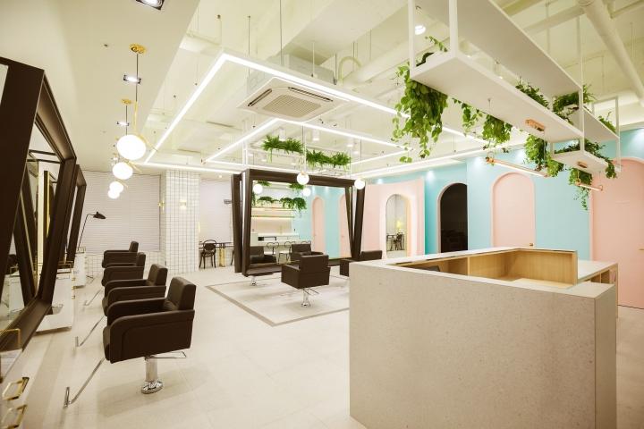 韩国Mode Hair发廊空间设计