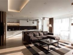 酷黑现代风格一居室装修设计