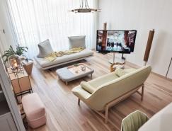 灰白色简约淡雅的公寓设计