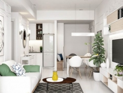 4个现代时尚的小公寓装修设计