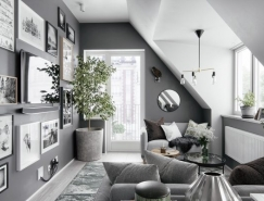 2个灰色调阁楼公寓设计