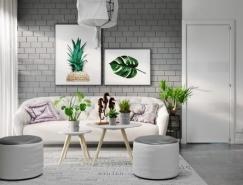 40个轻松时尚的灰色系客厅装修设计