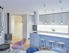 柔和的色彩搭配:时尚现代的公寓澳门金沙网址