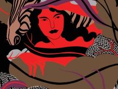 Karolin Schnoor典雅温馨的女性人物插画
