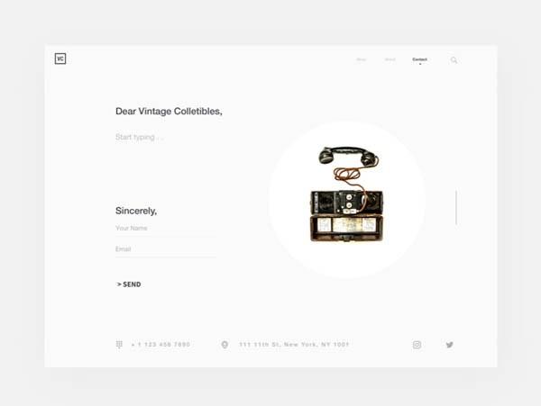 40个联系我们表单和页面设计欣赏