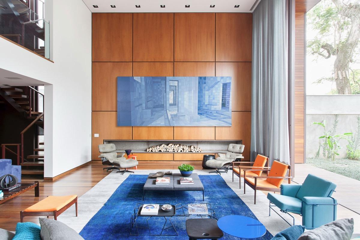 30个a蓝色放松的蓝色系客厅装修设计(2)v蓝色汽车美容图片