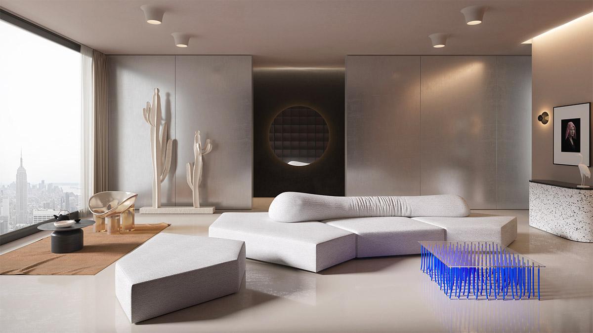 30个宁静抄报的客厅系蓝色装修设计(3)节日健康英语手放松版面设计图图片