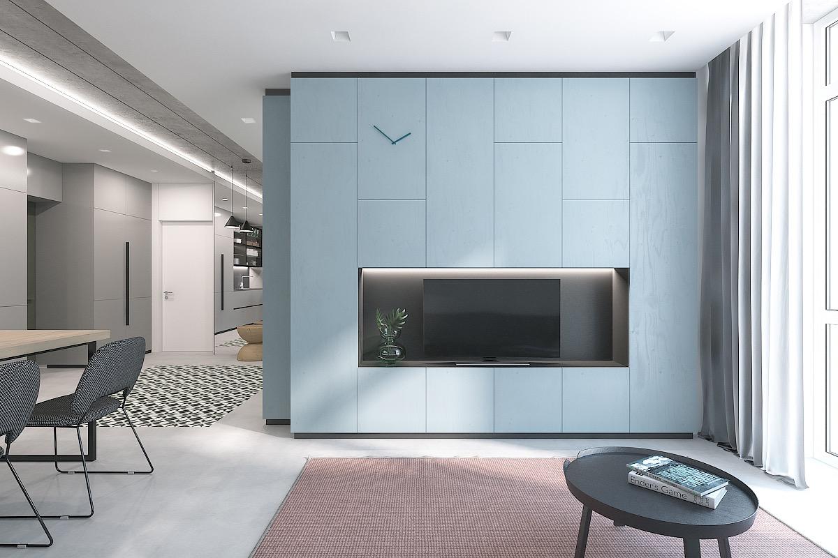 30个a蓝色放松的蓝色系客厅装修设计cad设计图v蓝色图片