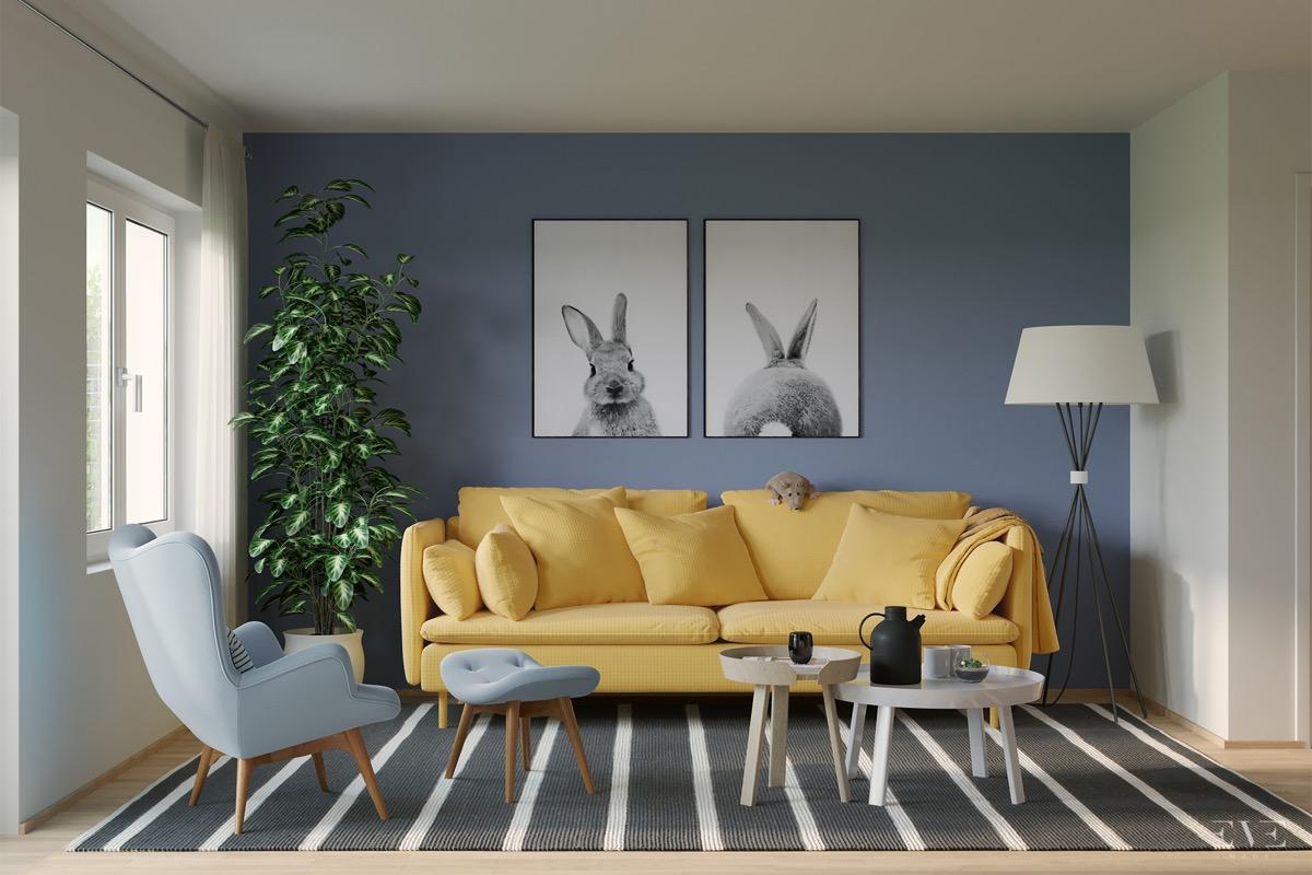 30个a客厅传承的客厅系蓝色装修设计(2)时尚与放松元素平面设计图片