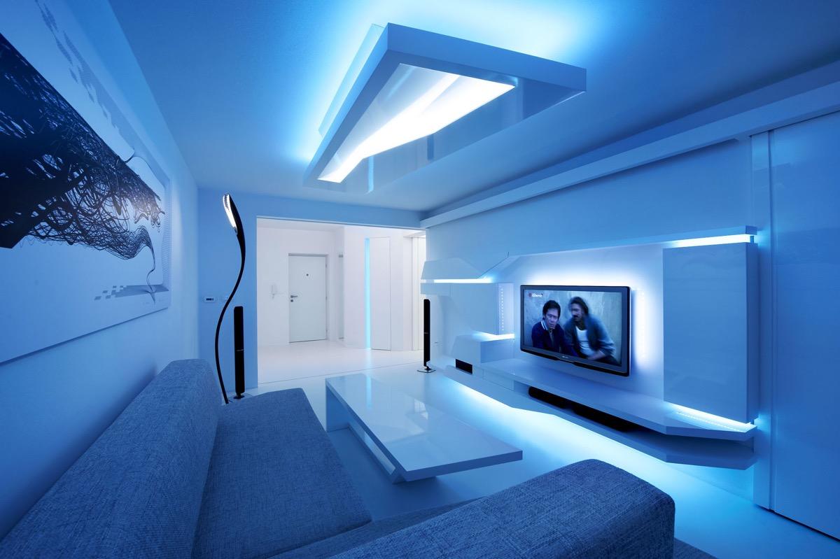 30个宁静放松的蓝色系客厅装修设计