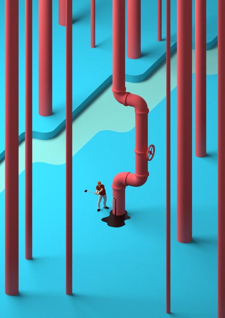 Fred Péault的3D插画世界