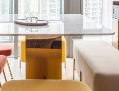 色彩的碰撞:香港46平米单身公寓设计