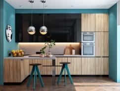 30个漂亮迷人的蓝色系厨房设计