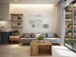 亚洲和北欧风格融合的5个现代小户型装修设计