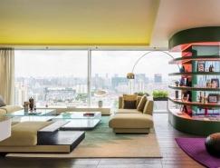 色彩空间:上海充满活力的250平米住宅装修皇冠新2网