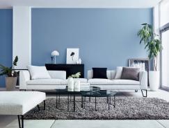 30个宁静放松的蓝色系客厅装修皇冠新2网