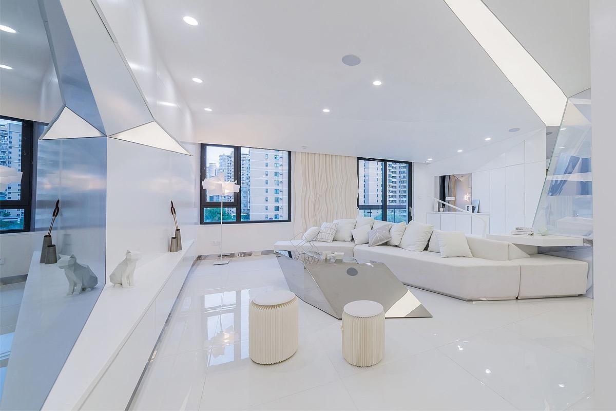 室内装修设计教程_酷炫的未来派风格家居装修设计 - 设计之家