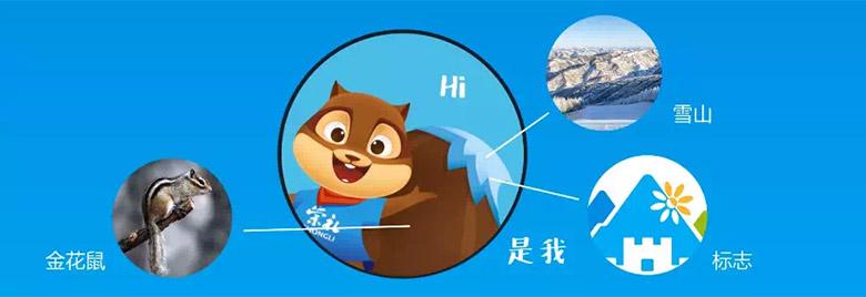 """崇礼发布城市形象LOGO和吉祥物 """"金花鼠""""一经亮相萌翻全场"""