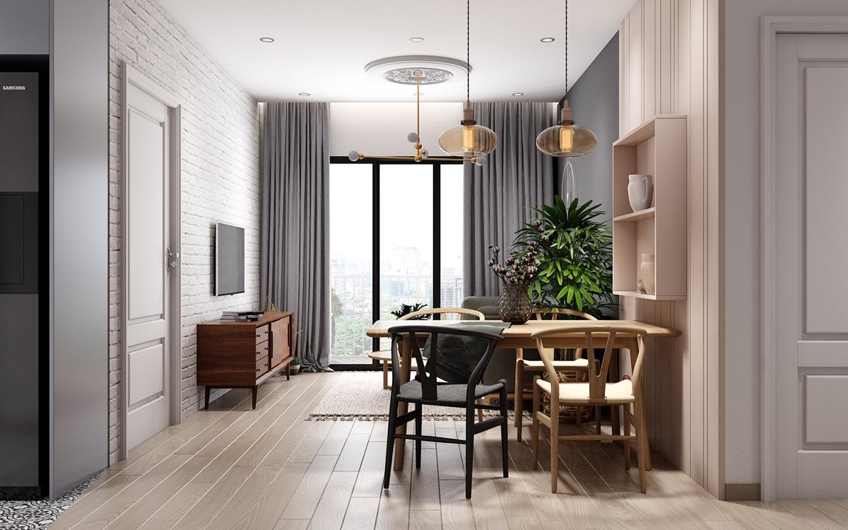 4个柔和温馨的小公寓装修设计