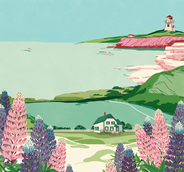 Jeannie Phan清新自然的插画作品