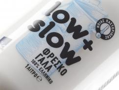 Low & Slow鲜牛奶包装设计