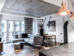 富有表现力的灰色 现代优雅的住宅装修设计