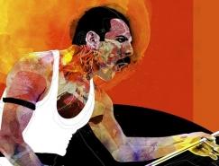 Alvaro Tapia Hidalgo独特的肖像插画作品