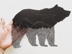 Kanako Abe精致的剪紙藝術作品