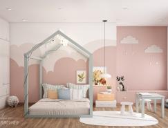 40个可爱粉色儿童房正规棋牌游戏平台