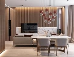 大理石和丰富的木纹的完美结合:现代风格豪华装修澳门金沙网址