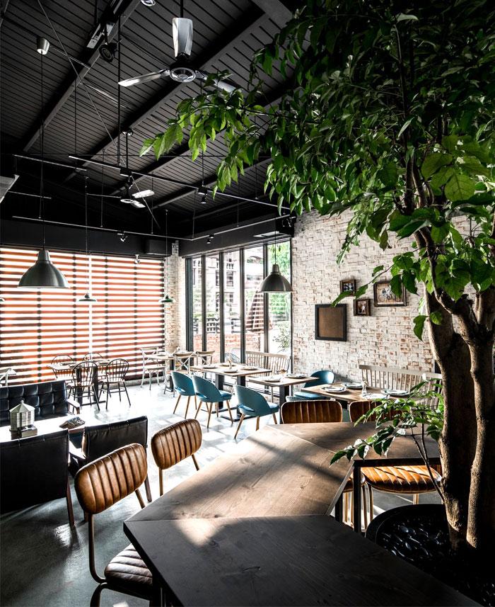 台中Gatto Bianco复古怀旧的砖墙风咖啡馆设计