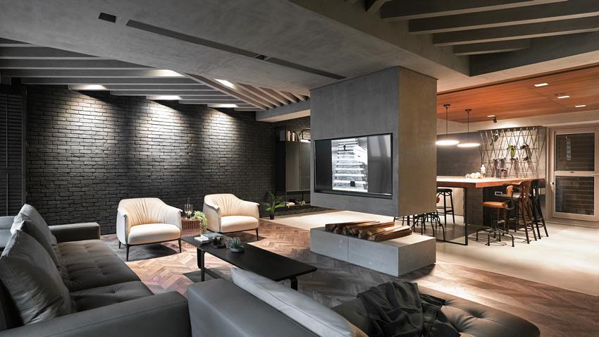 高雄135㎡工业水泥风度假住宅设计