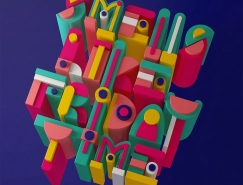 Carlo Cadenas创意3D字体设计
