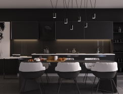 33个黑色风格餐厅装修设计