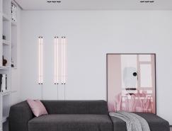 粉色和灰色搭配的个性住宅装修设计