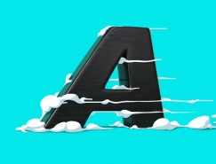 FOREAL作品:與卡通風格插圖結合的創意3D字母設計