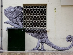 Levalet的街头涂鸦艺术作品